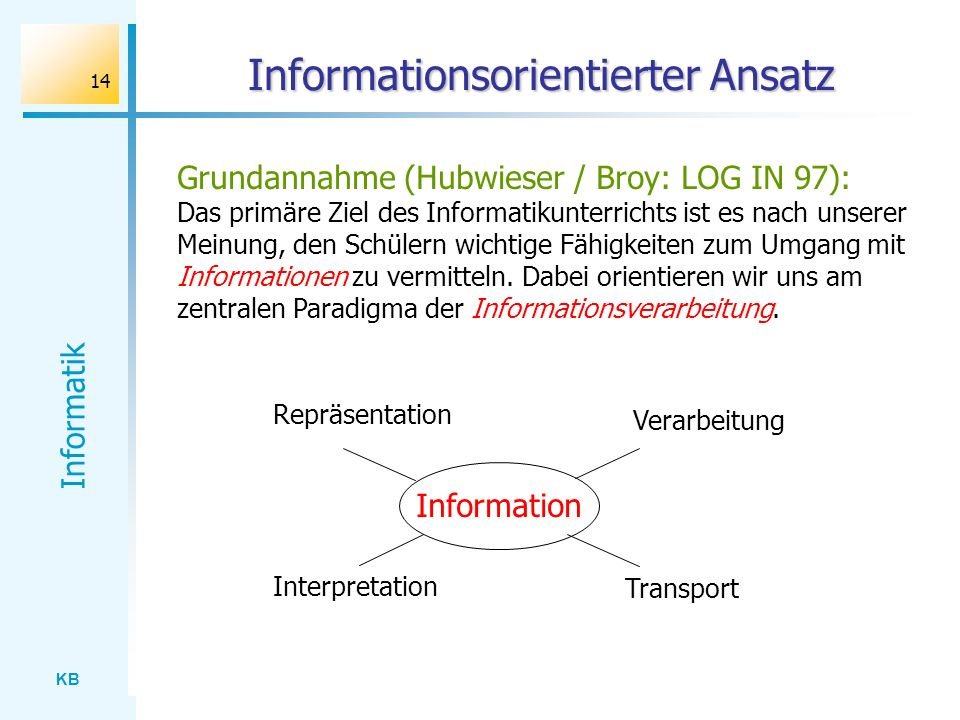 Informationsorientierter Ansatz