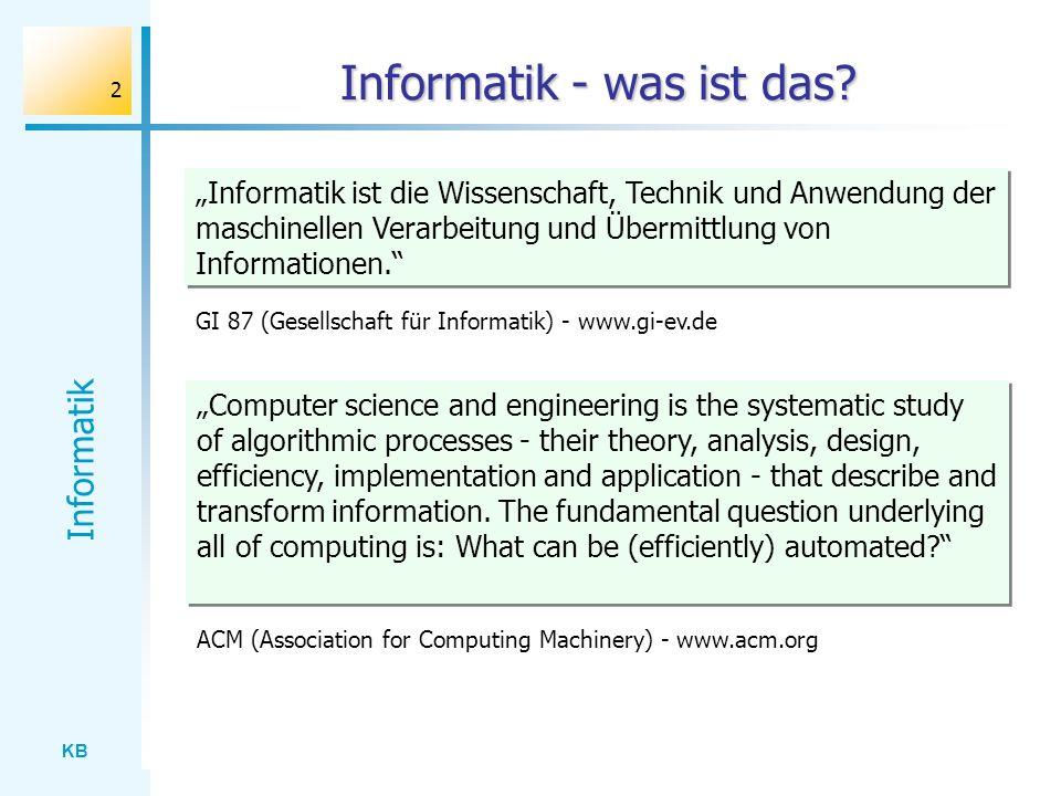 Informatik - was ist das