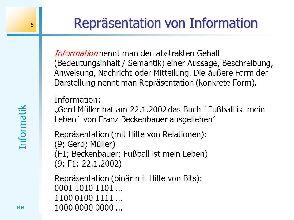 Repräsentation von Information