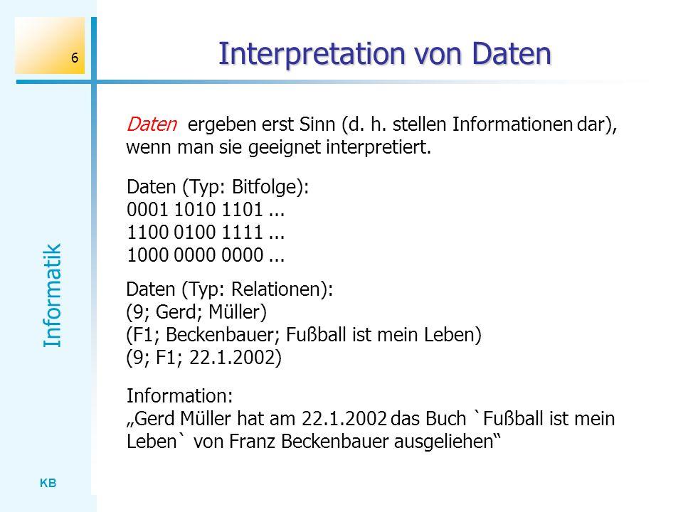 Interpretation von Daten