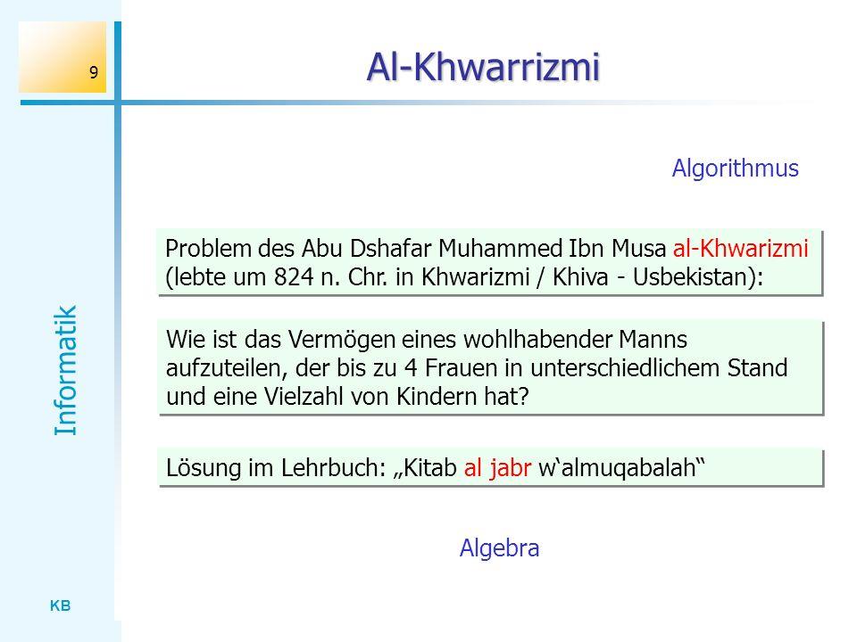 Al-Khwarrizmi Algorithmus