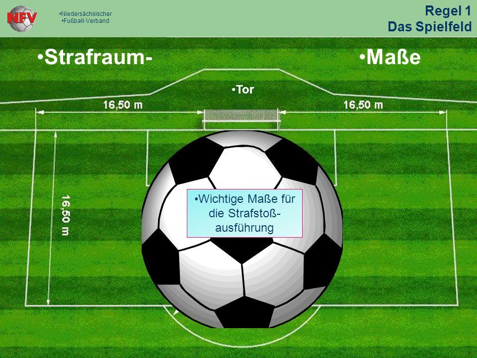 Strafraum- Maße Regel 1 Das Spielfeld Tor