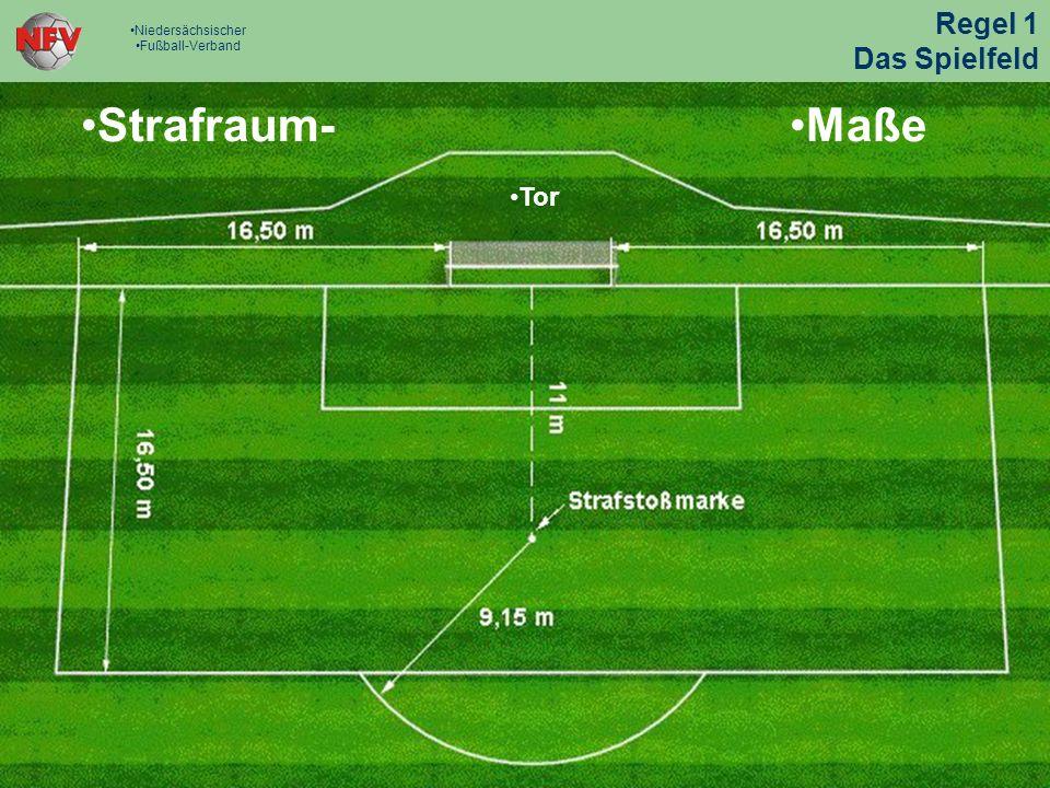 Strafraum- Strafraum- Maße Maße Regel 1 Das Spielfeld Tor Tor
