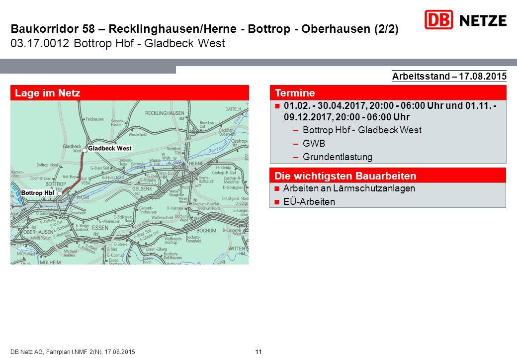 Baukorridor 58 – Recklinghausen/Herne - Bottrop - Oberhausen (2/2) 03