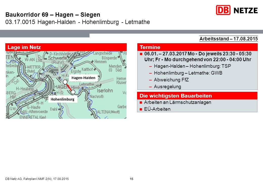 Baukorridor 69 – Hagen – Siegen 03. 17