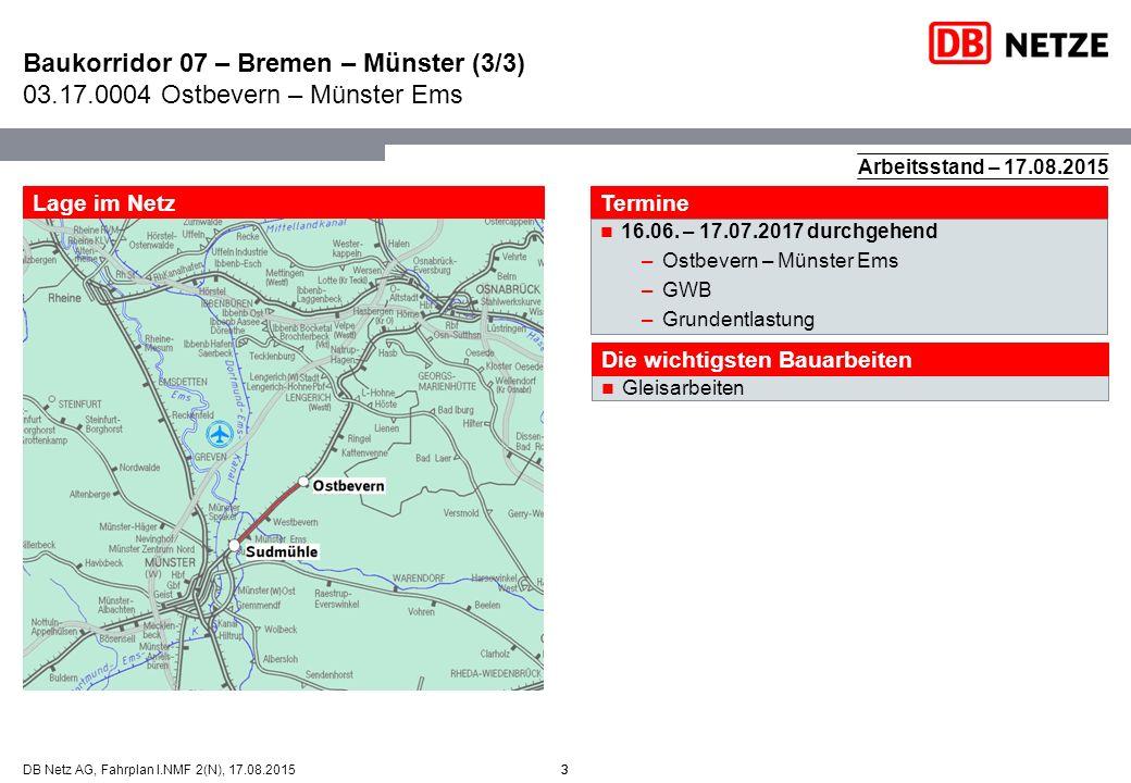 Baukorridor 07 – Bremen – Münster (3/3) 03. 17