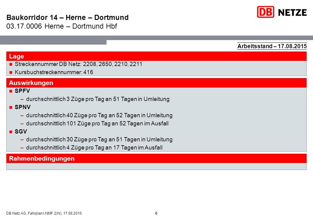 Baukorridor 14 – Herne – Dortmund 03.17.0006 Herne – Dortmund Hbf