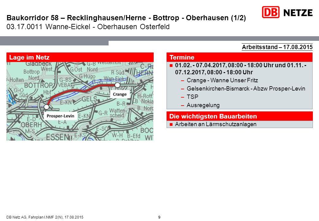 Baukorridor 58 – Recklinghausen/Herne - Bottrop - Oberhausen (1/2) 03