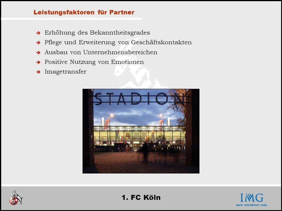 1. FC Köln Leistungsfaktoren für Partner