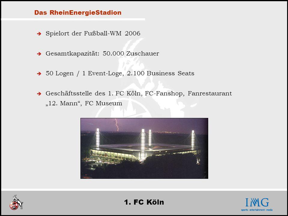 1. FC Köln Das RheinEnergieStadion Spielort der Fußball-WM 2006