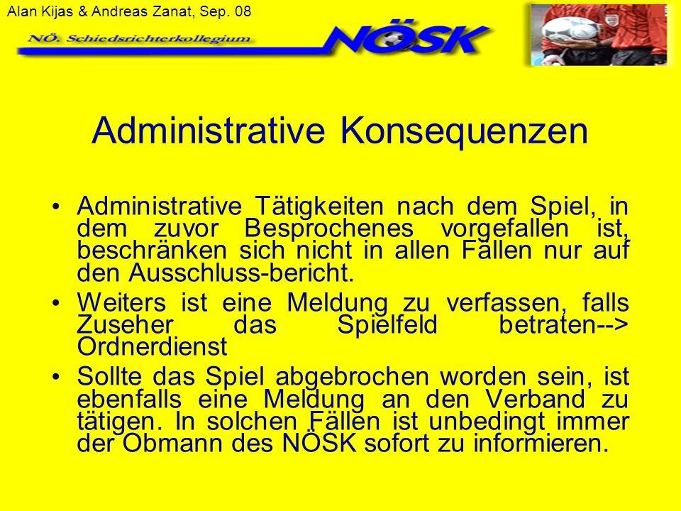 Administrative Konsequenzen