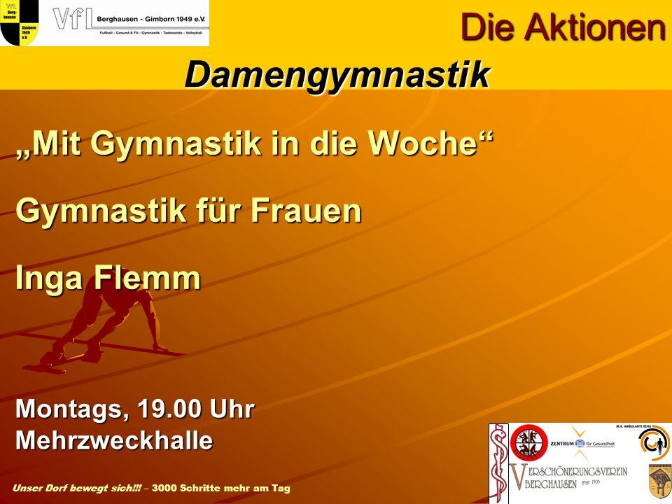 """""""Mit Gymnastik in die Woche Gymnastik für Frauen Inga Flemm"""