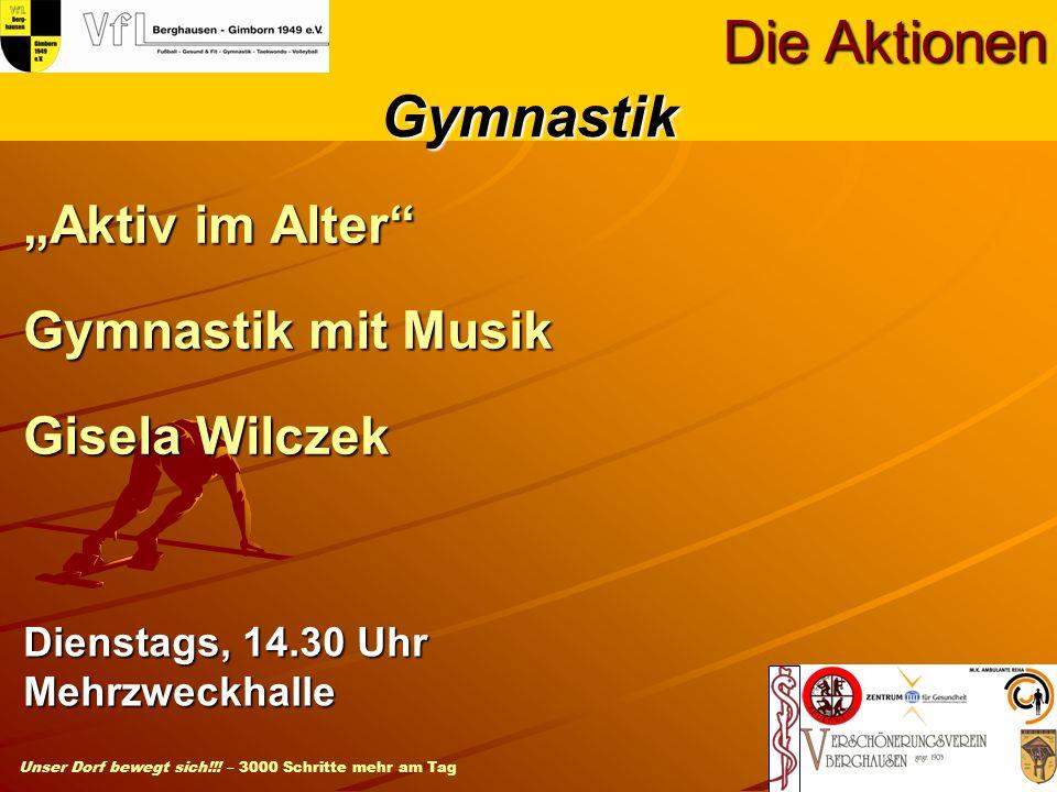 """Aktiv im Alter Gymnastik mit Musik Gisela Wilczek"