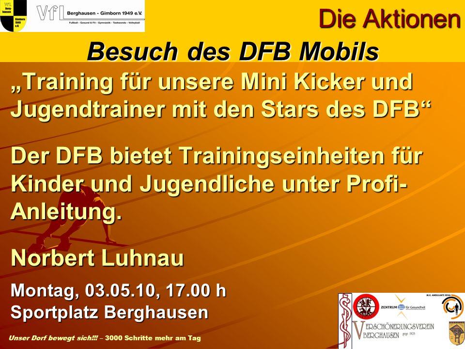 Die Aktionen Besuch des DFB Mobils