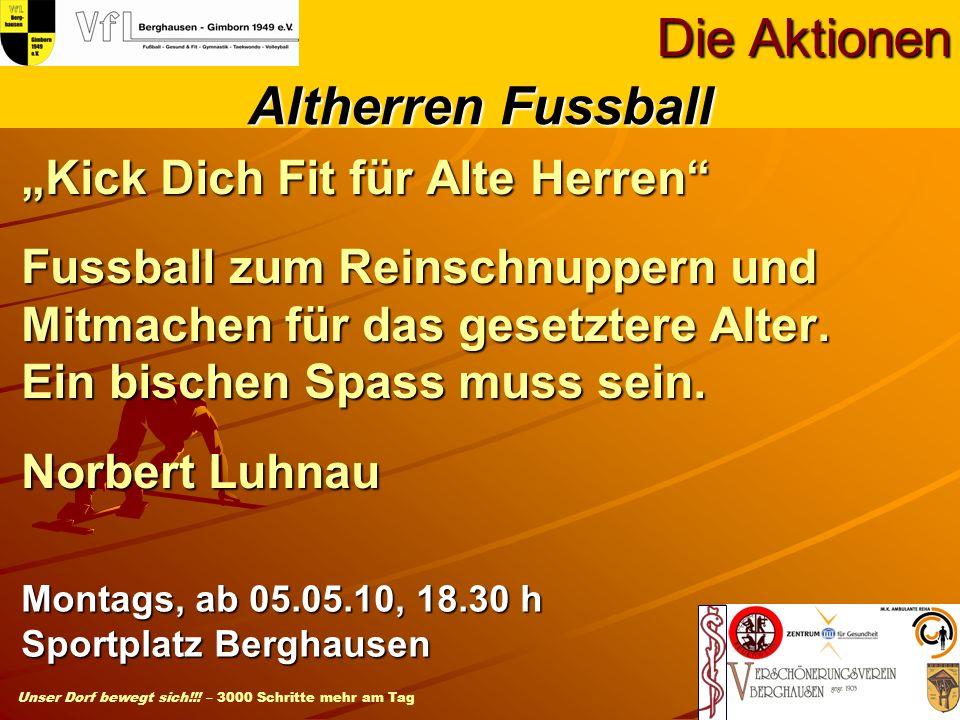 Die Aktionen Altherren Fussball