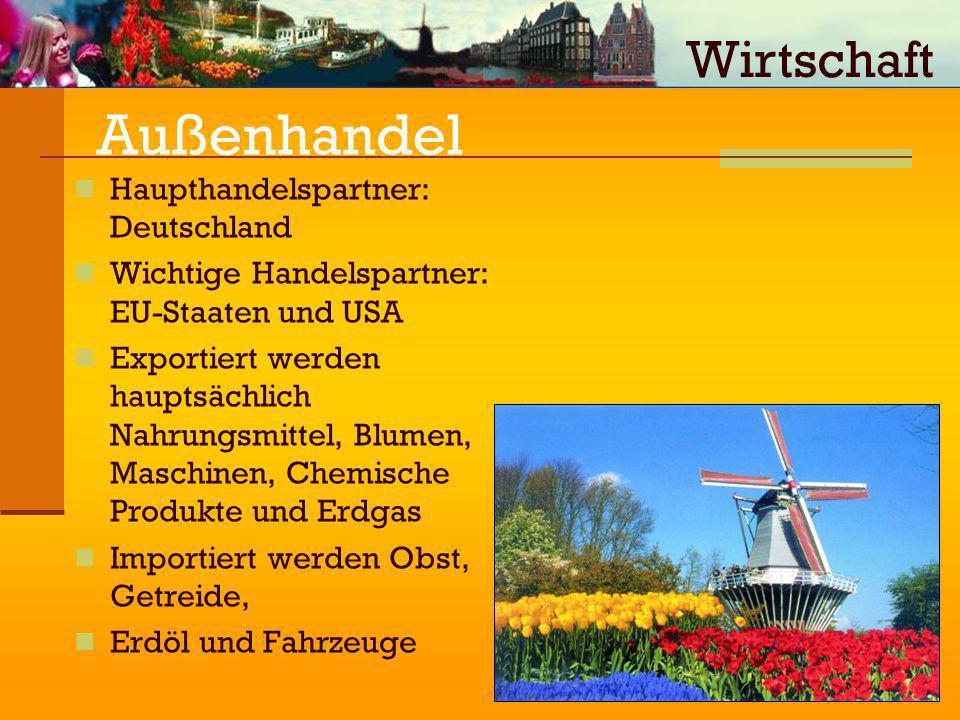 Außenhandel Wirtschaft Haupthandelspartner: Deutschland