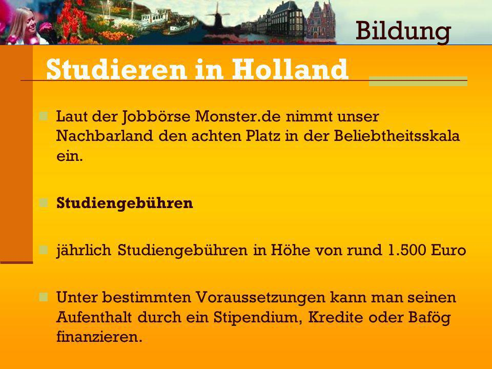 Studieren in Holland Bildung