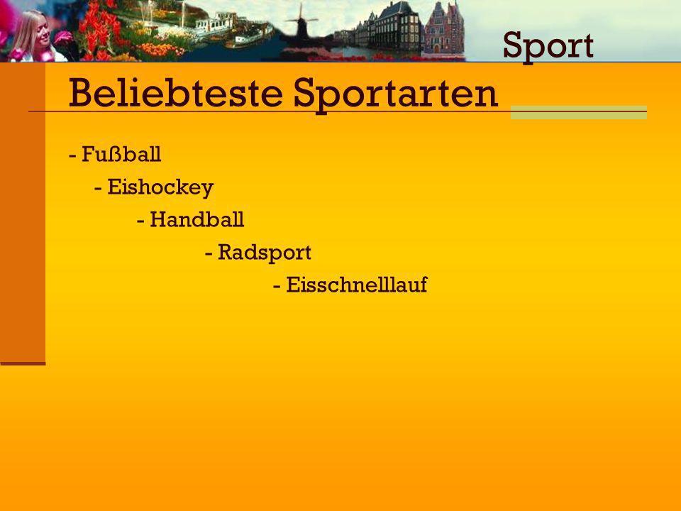 Beliebteste Sportarten