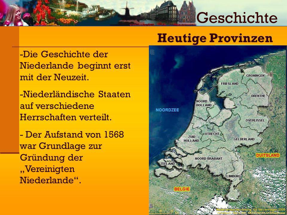 Geschichte Heutige Provinzen