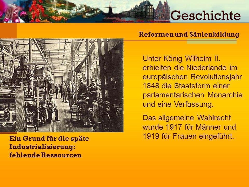Geschichte Reformen und Säulenbildung.