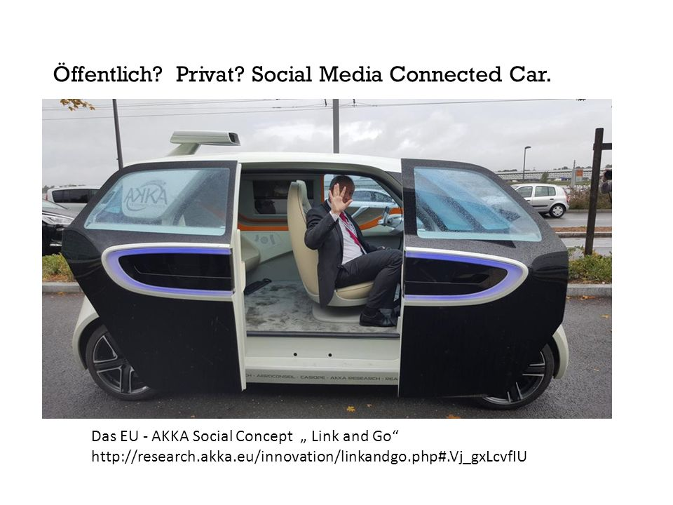 Öffentlich Privat Social Media Connected Car.