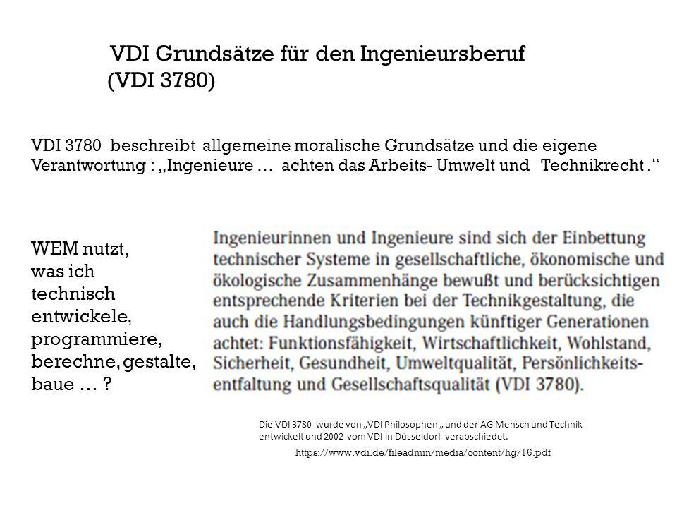 VDI Grundsätze für den Ingenieursberuf (VDI 3780)