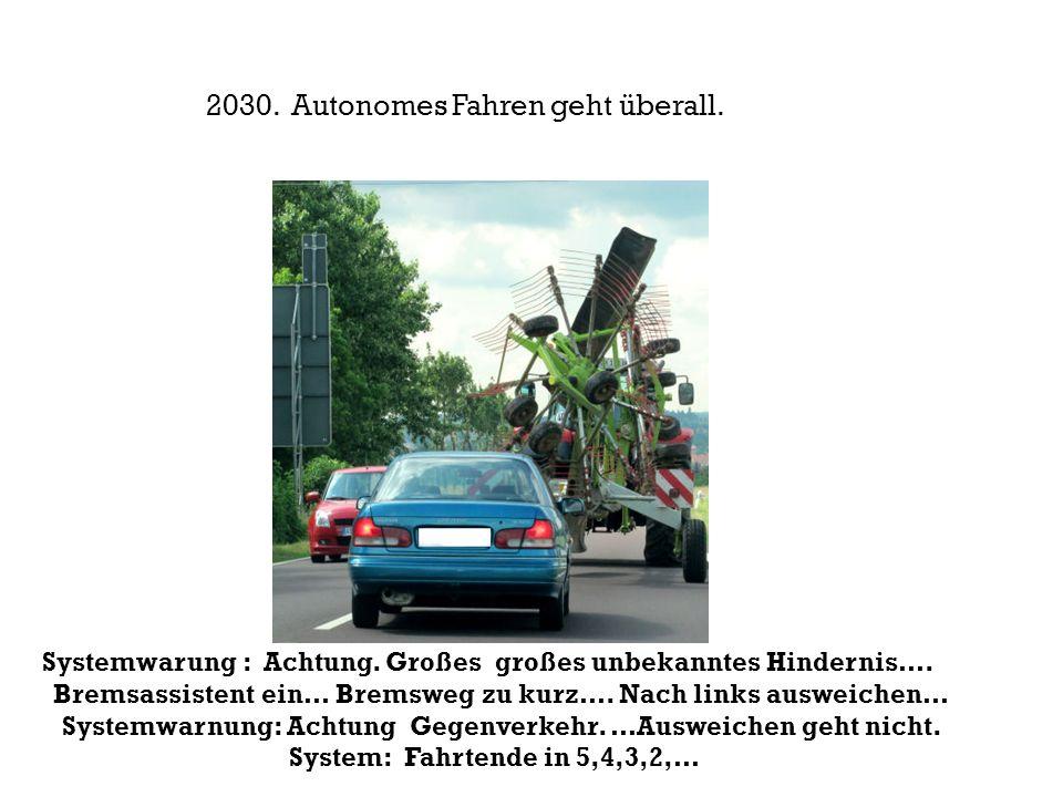 2030. Autonomes Fahren geht überall.