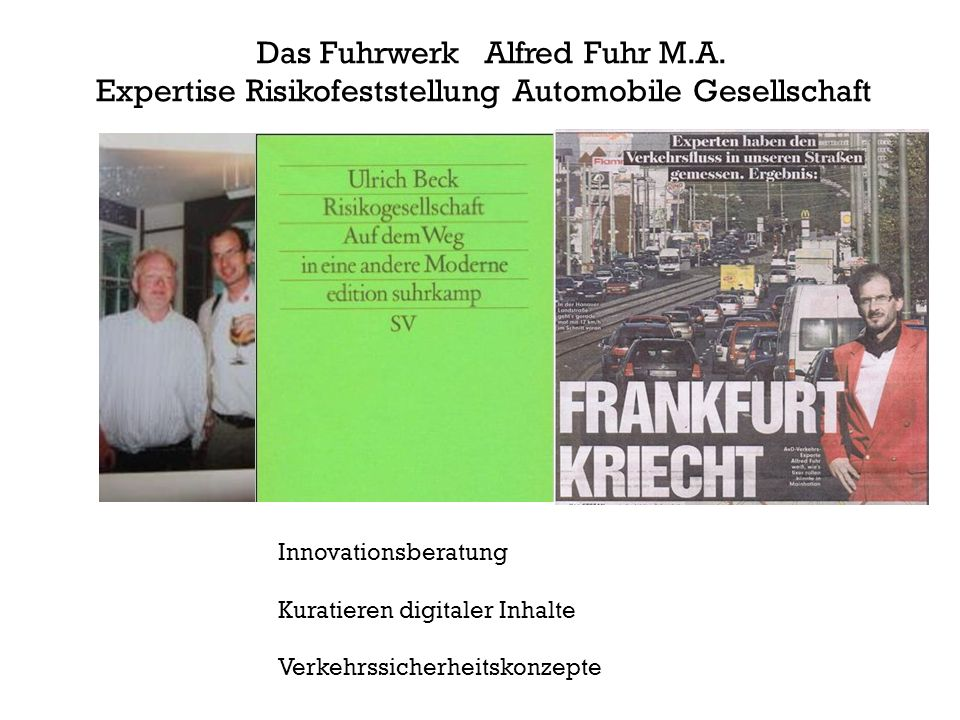 Das Fuhrwerk Alfred Fuhr M.A.