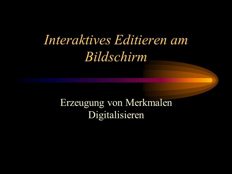 Interaktives Editieren am Bildschirm