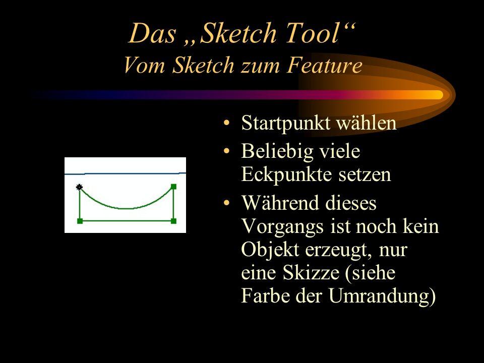 """Das """"Sketch Tool Vom Sketch zum Feature"""