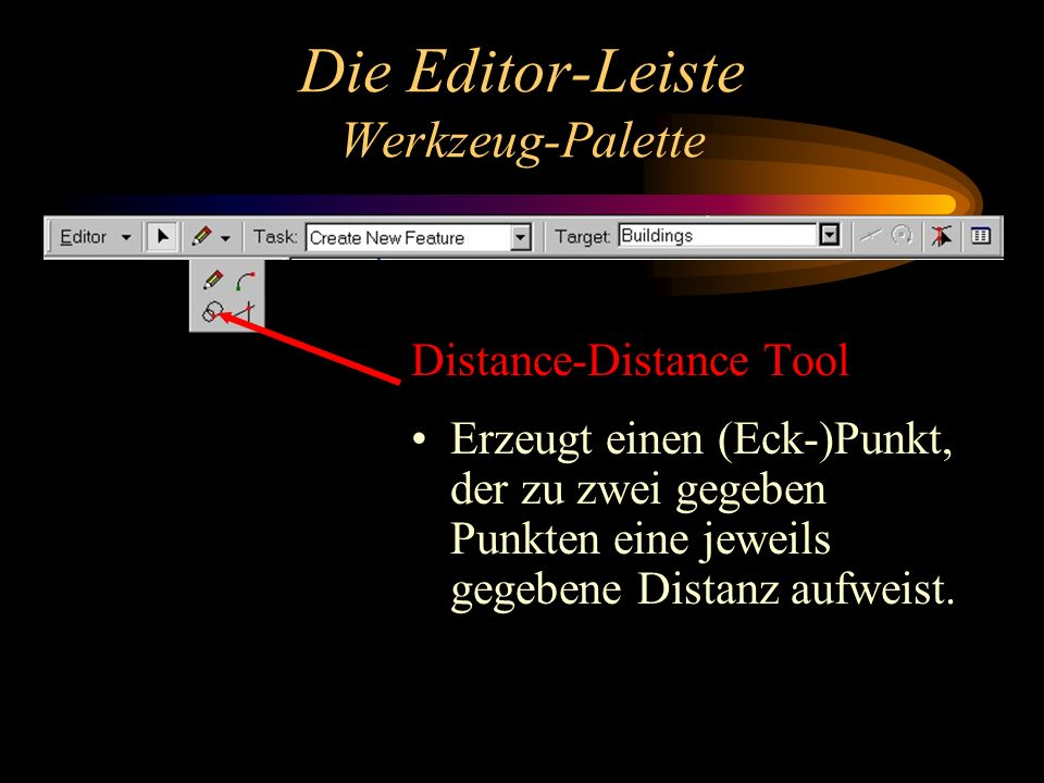 Die Editor-Leiste Werkzeug-Palette