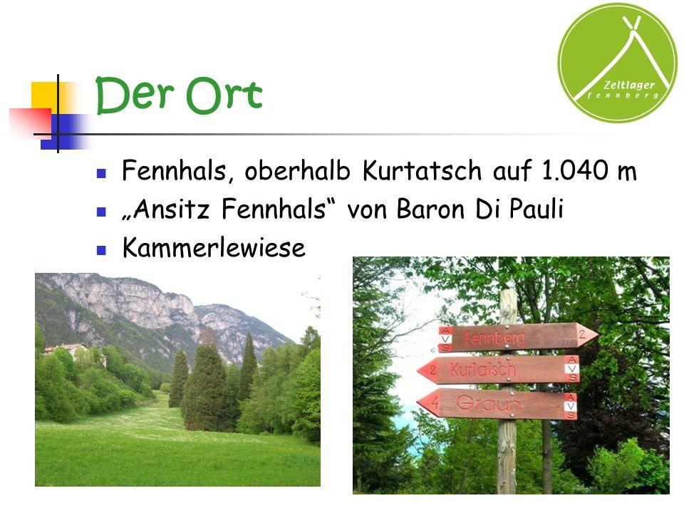 Der Ort Fennhals, oberhalb Kurtatsch auf 1.040 m