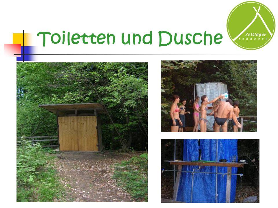 Toiletten und Dusche