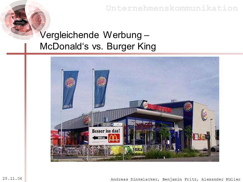 Vergleichende Werbung – McDonald's vs. Burger King