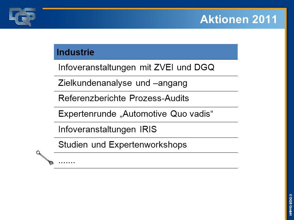 Aktionen 2011 Industrie Infoveranstaltungen mit ZVEI und DGQ