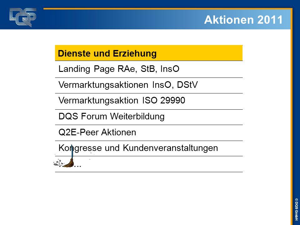 Aktionen 2011 Dienste und Erziehung Landing Page RAe, StB, InsO