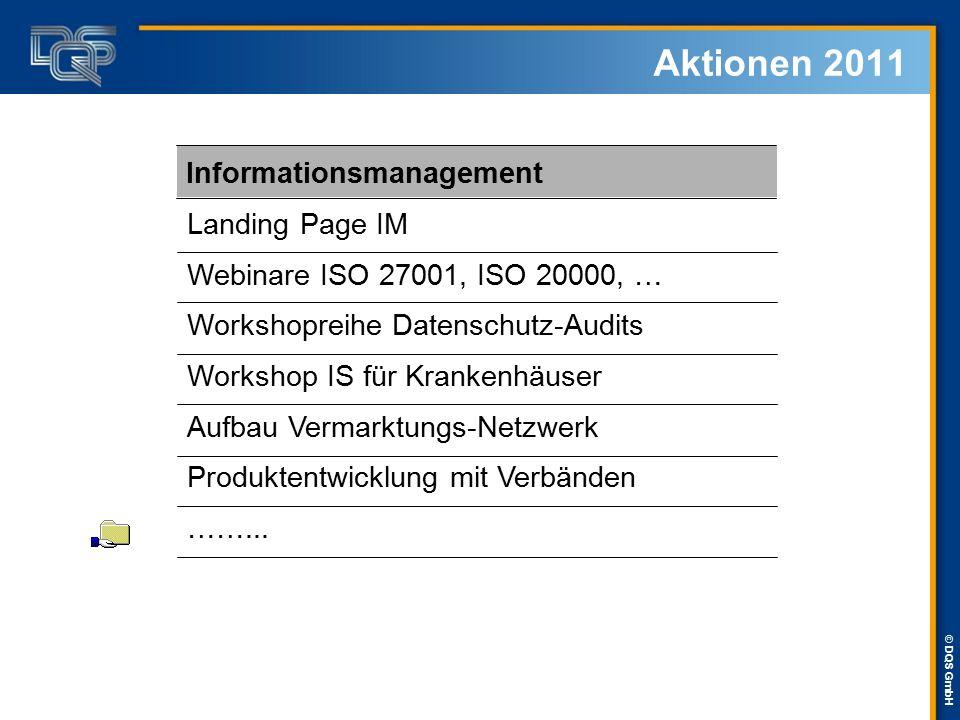 Aktionen 2011 Informationsmanagement Landing Page IM