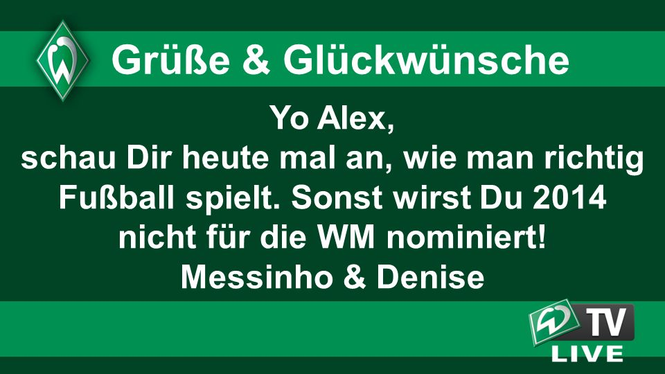 nicht für die WM nominiert! Messinho & Denise