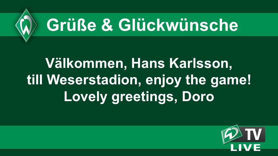Grüße & Glückwünsche Välkommen, Hans Karlsson,