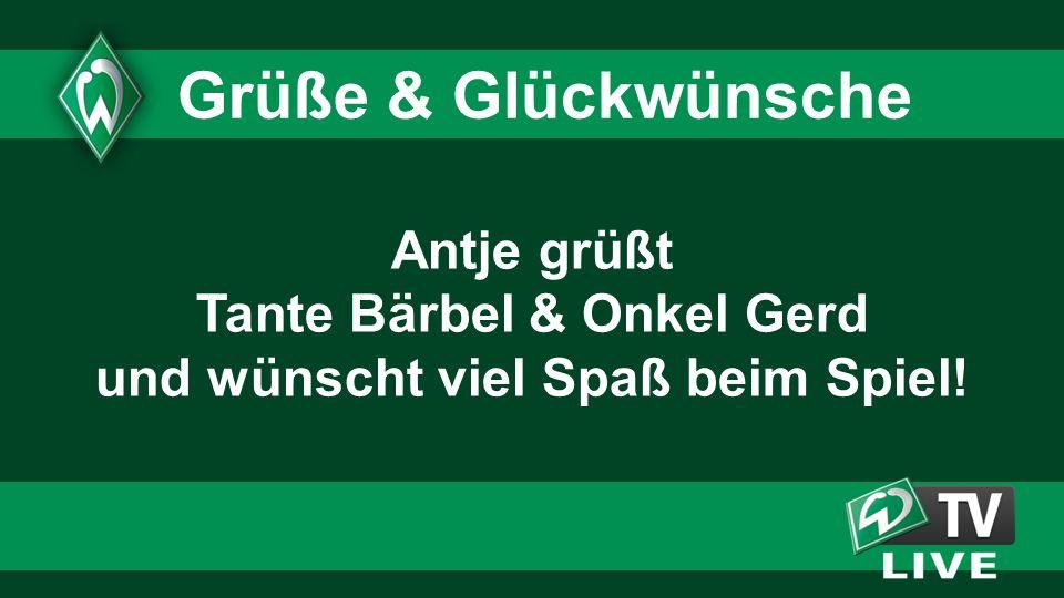 2323 2323. Grüße & Glückwünsche. Antje grüßt Tante Bärbel & Onkel Gerd und wünscht viel Spaß beim Spiel!