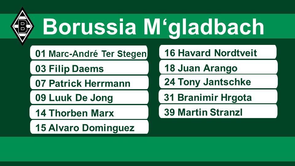 Borussia M'gladbach 01 Marc-André Ter Stegen 16 Havard Nordtveit