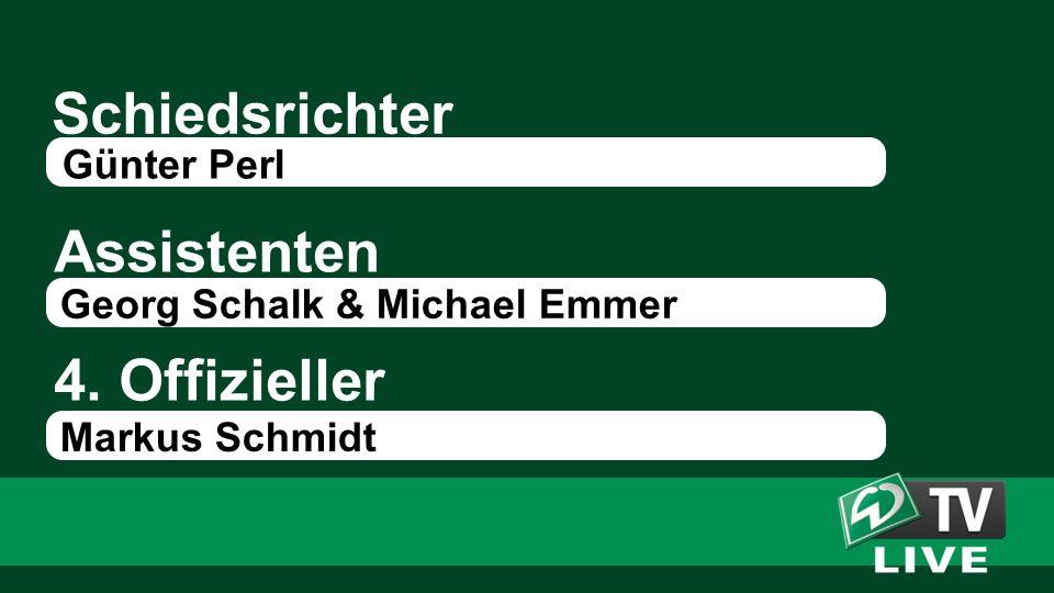 Schiedsrichter Assistenten 4. Offizieller Günter Perl