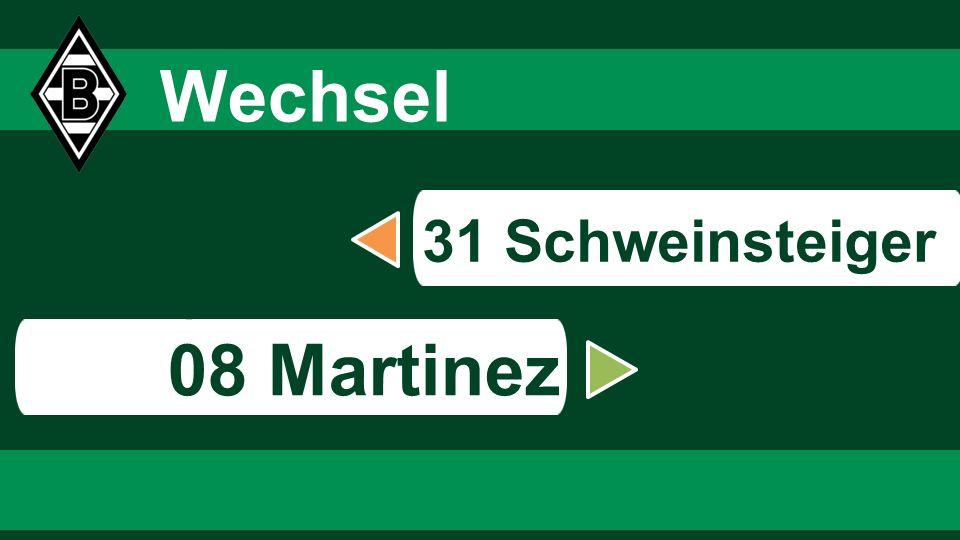 6868 6868 Wechsel 31 Schweinsteiger s 08 Martinez 68