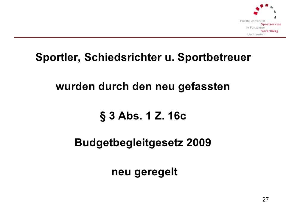 Sportler, Schiedsrichter u. Sportbetreuer
