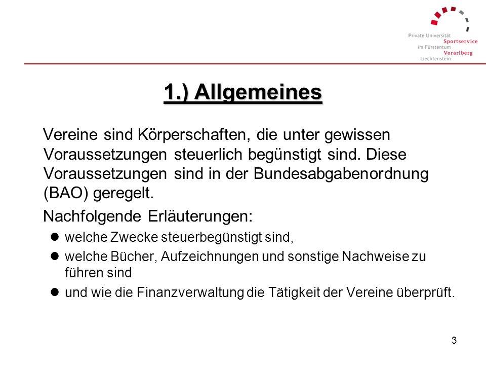 1.) Allgemeines
