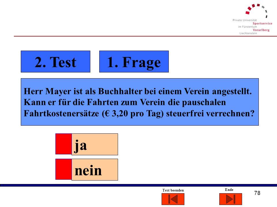 2. Test 1. Frage.