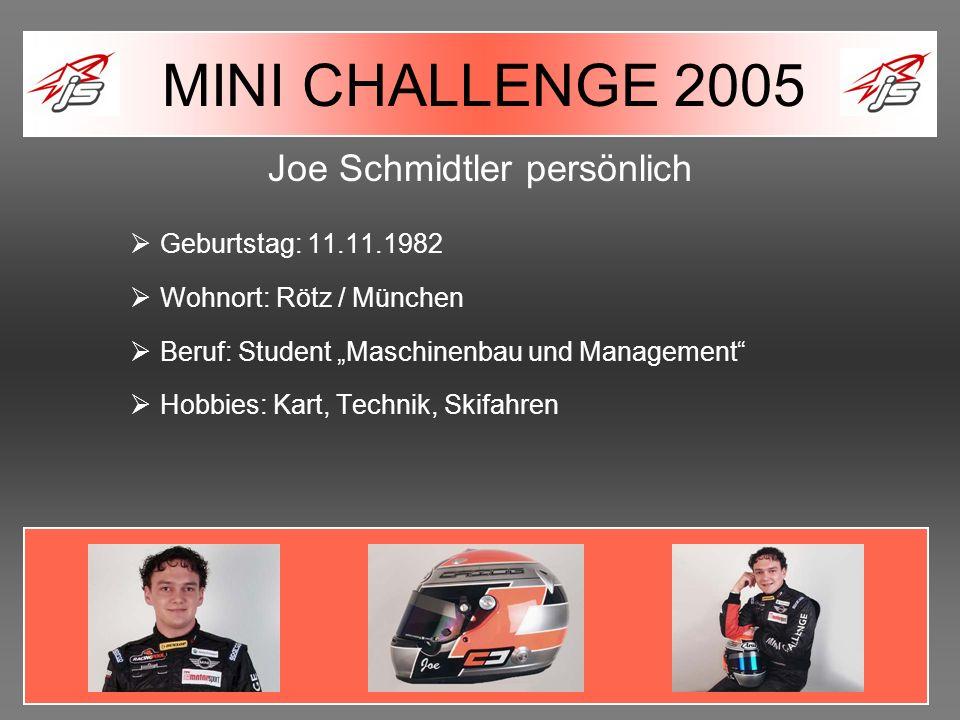 Joe Schmidtler persönlich