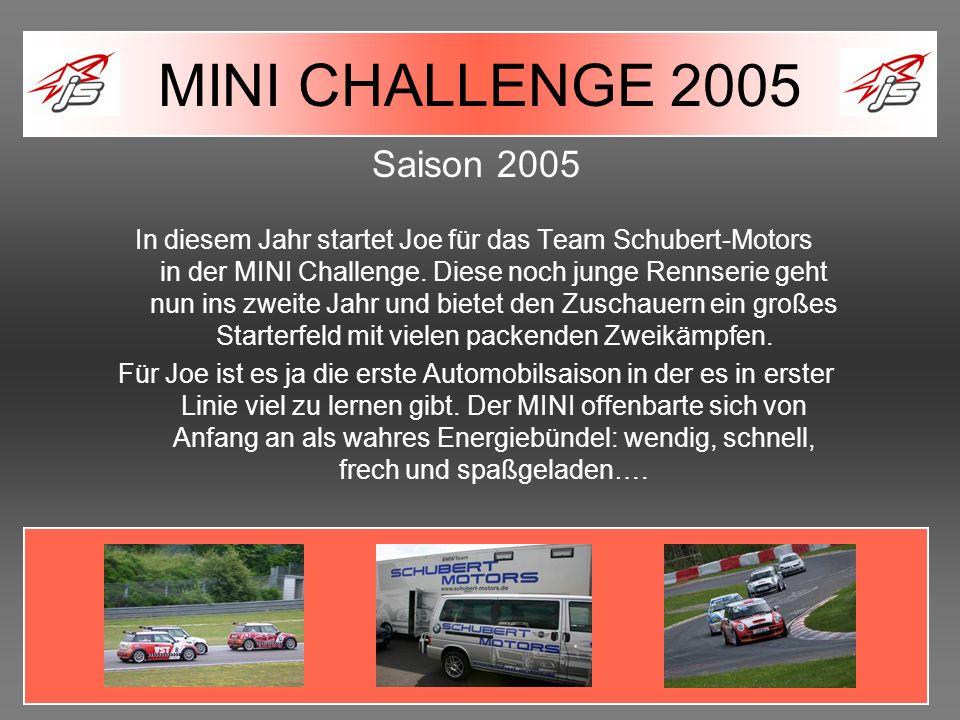 MINI CHALLENGE 2005 Saison 2005.