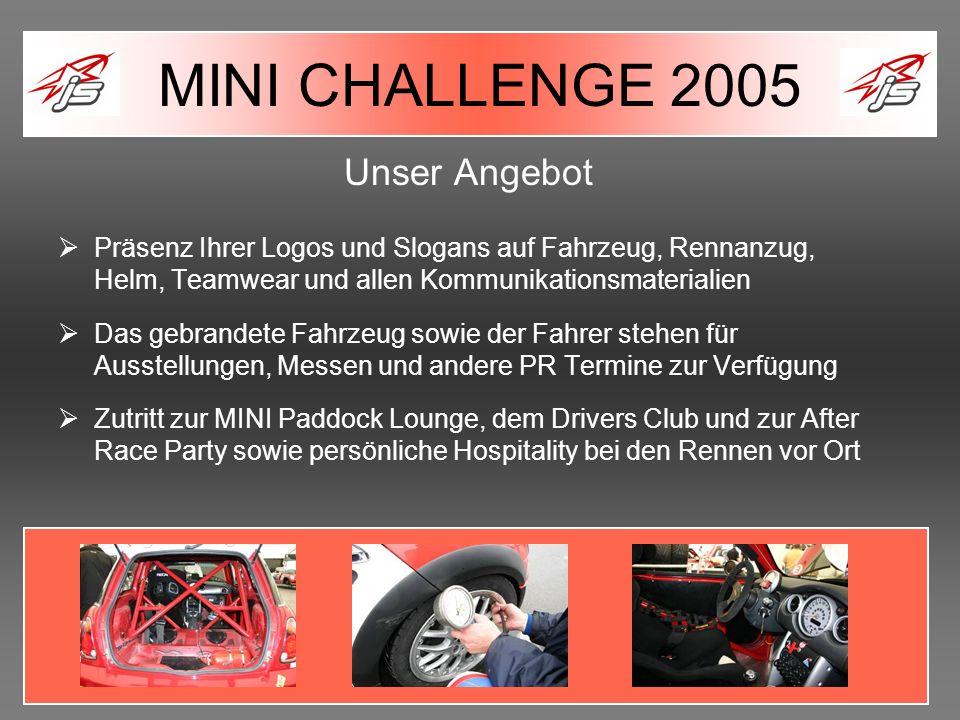 MINI CHALLENGE 2005 Unser Angebot