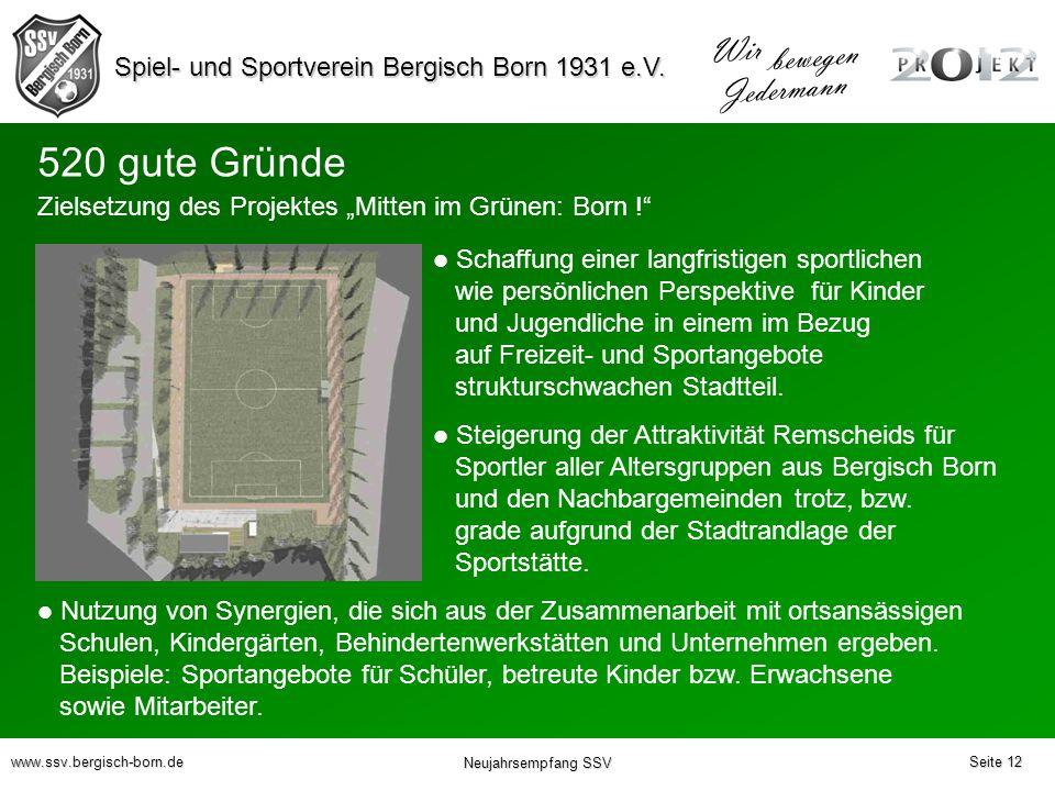 "520 gute Gründe Zielsetzung des Projektes ""Mitten im Grünen: Born !"